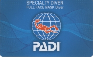 PADI Full Face Mask Diver